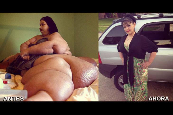 La gorda pierde peso