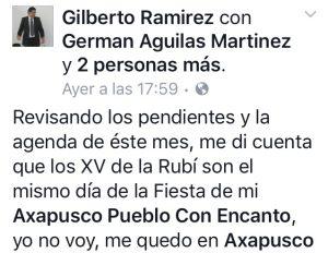 AXAPUSCO XV AÑOS DE LA RUBI