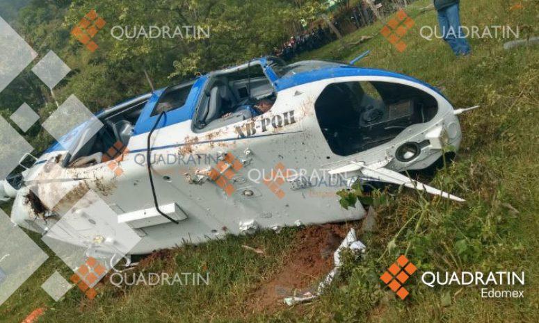 Acusan pobladores a policías de derribo de ambulancia aérea