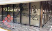 Pintan edificio de FGJEM ante demanda de justicia para Diana Velázquez