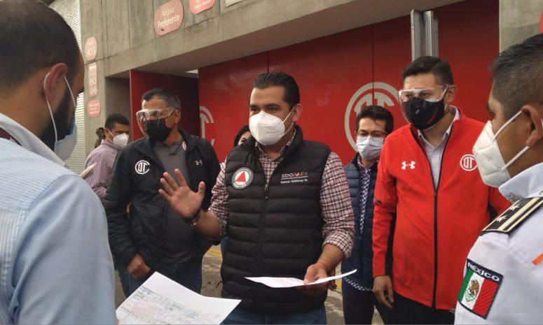 Listos módulos de vacunación contra Covid 19 en Toluca
